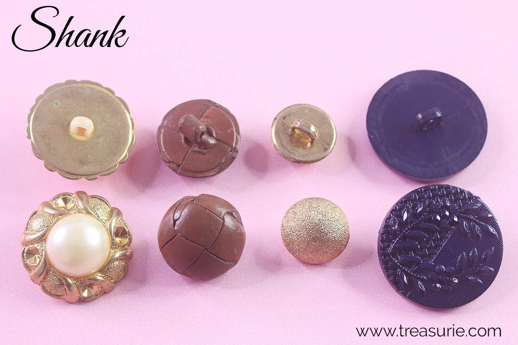 Vintage Cloth Covered Shank Buttons, Sewing Buttons
