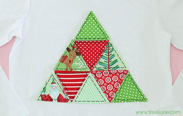DIY Christmas Shirt - Stitching