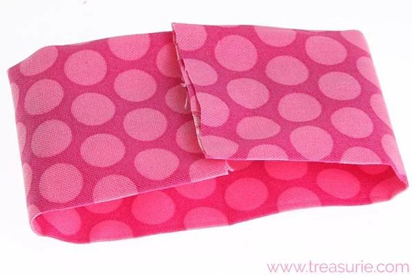 diy fabric bow step 3