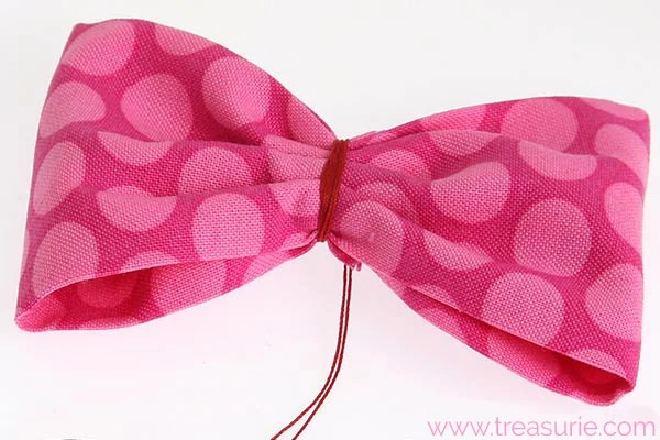 diy fabric bow step 4