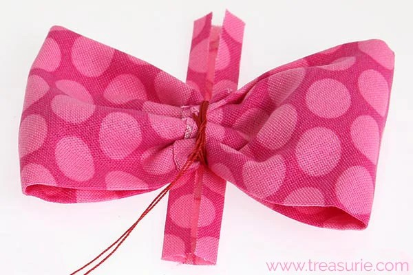 diy fabric bow step 5