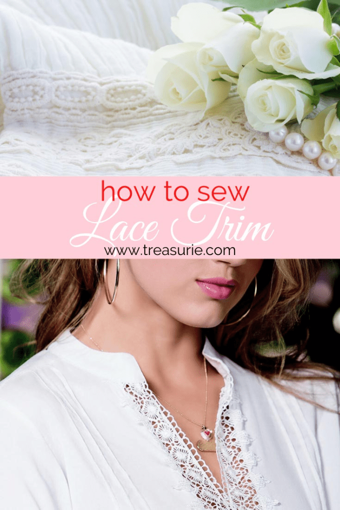 how to sew lace trim