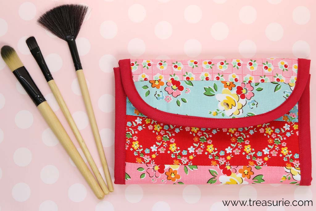 DIY Makeup Brush Holder Roll