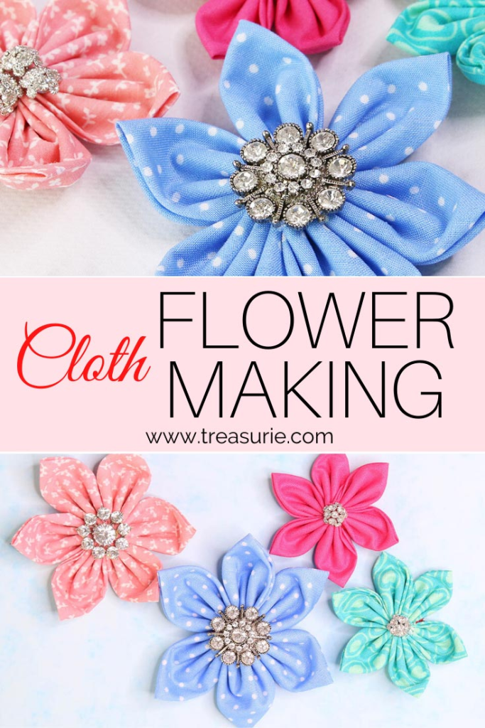 Cloth Flower Making In Under 5 Minutes Treasurie
