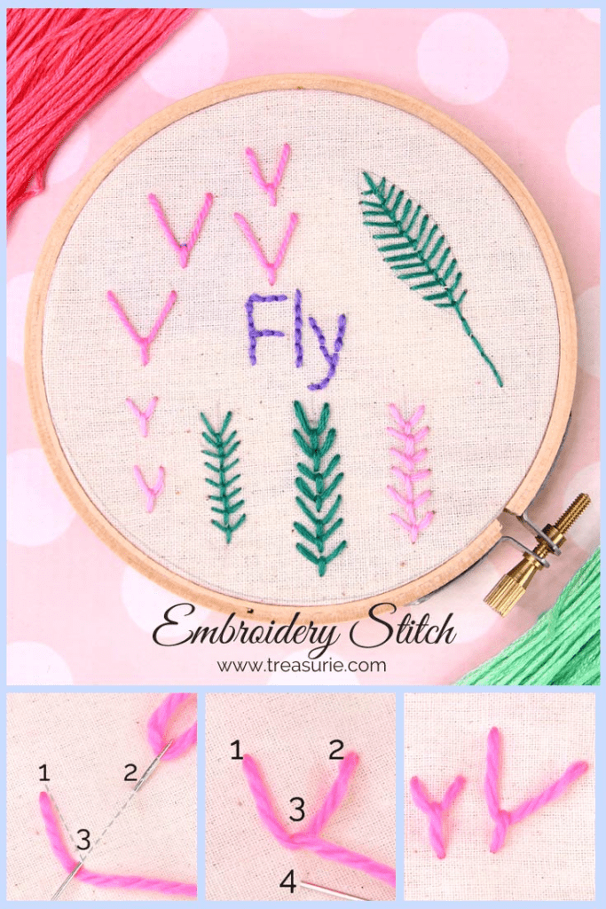 fly stitch embroidery