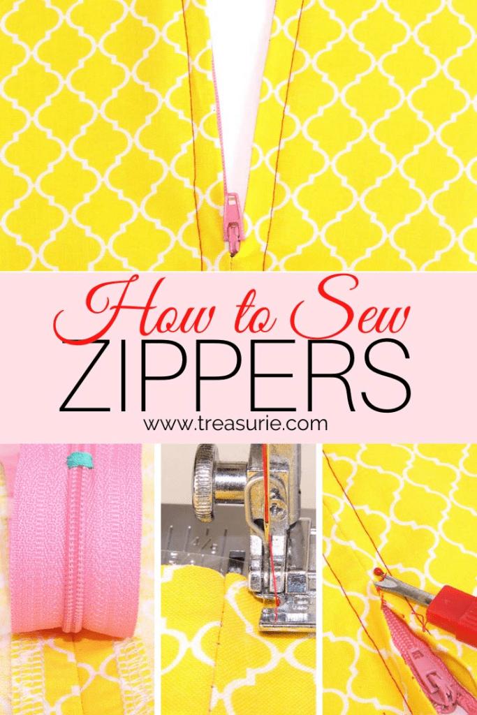 how to sew a zipper