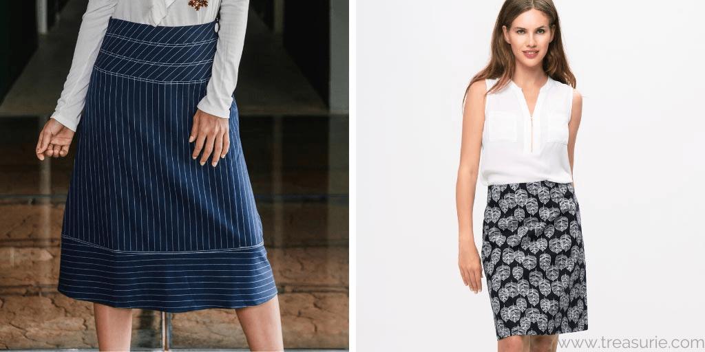 Reversible Skirt Double Layer  Medium Length  Straight or V Cut Skirt