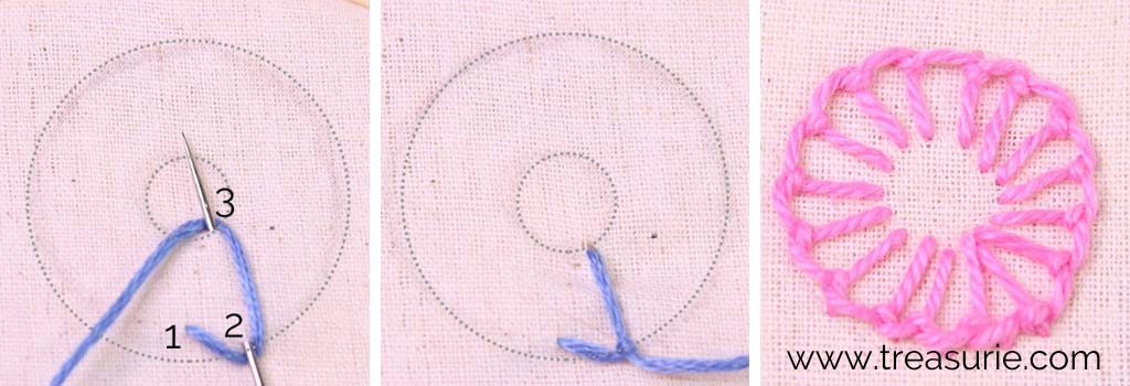 Buttonhole Stitch for Embroidery Flowers