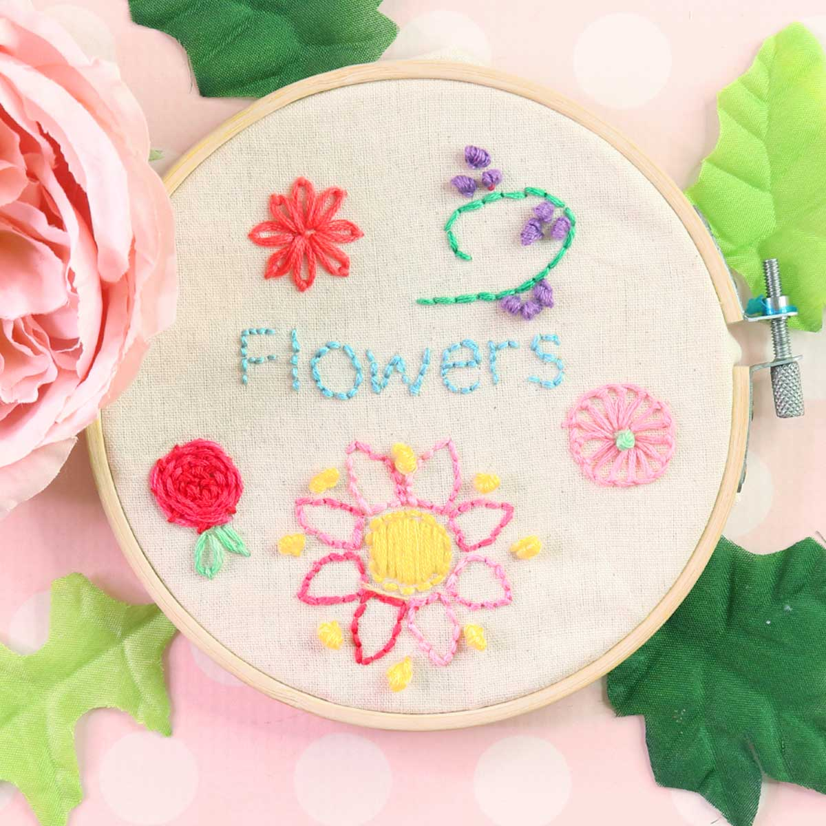 Embroidery Flowers   The 20 Easiest for Beginners   TREASURIE