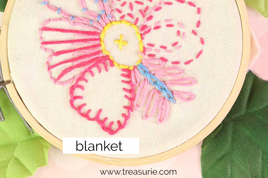 Blanket Stitch Embroidery Flowers