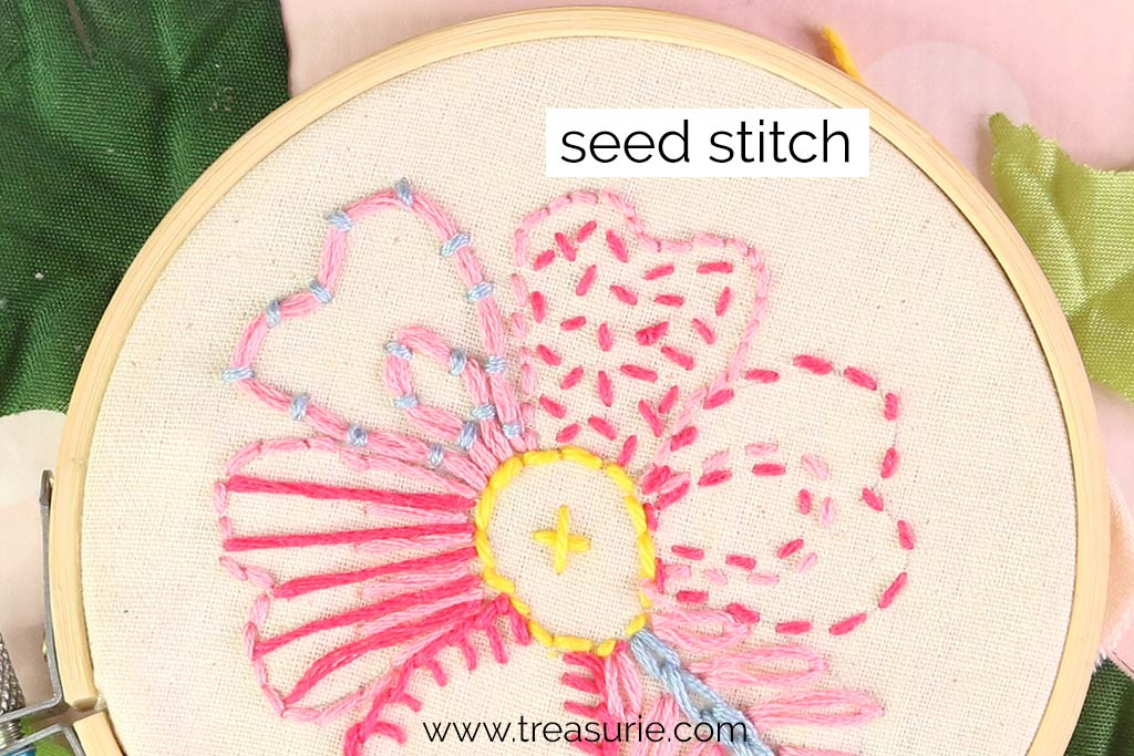 Seed Stitch for Embroidery Flowers