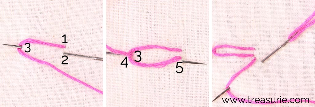Lazy Daisy Stitch for Embroidery Flowers