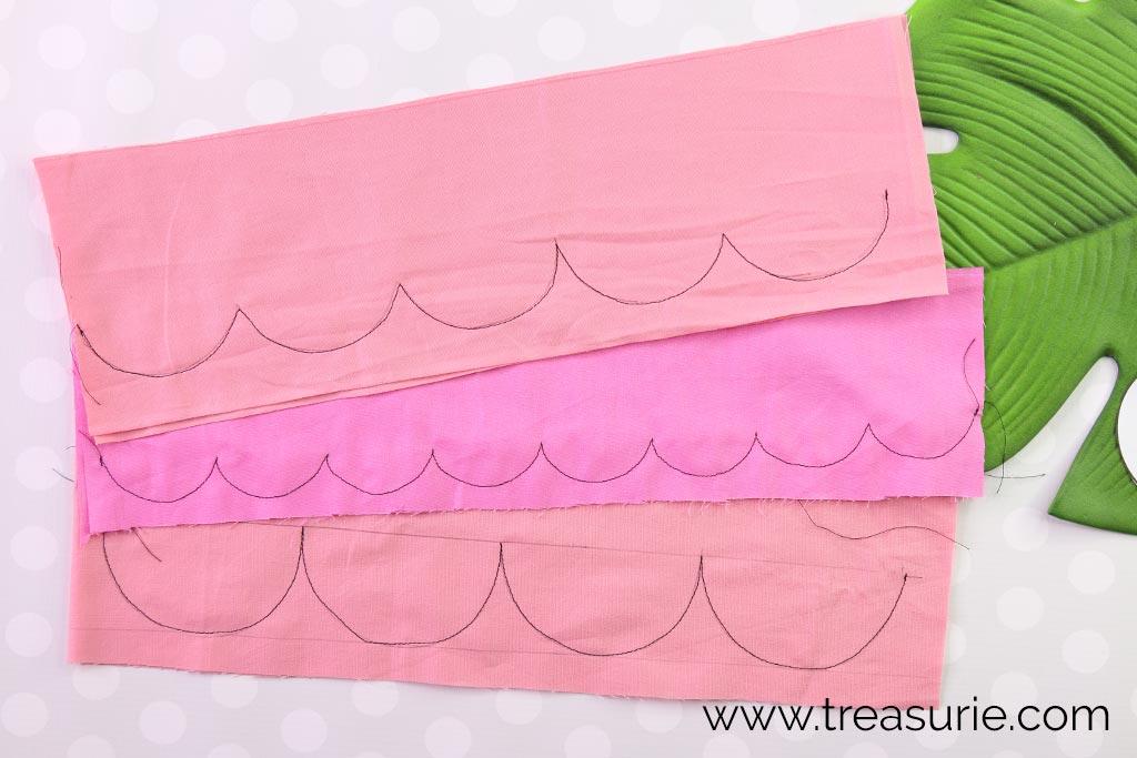 Scalloped Edges - Stitching