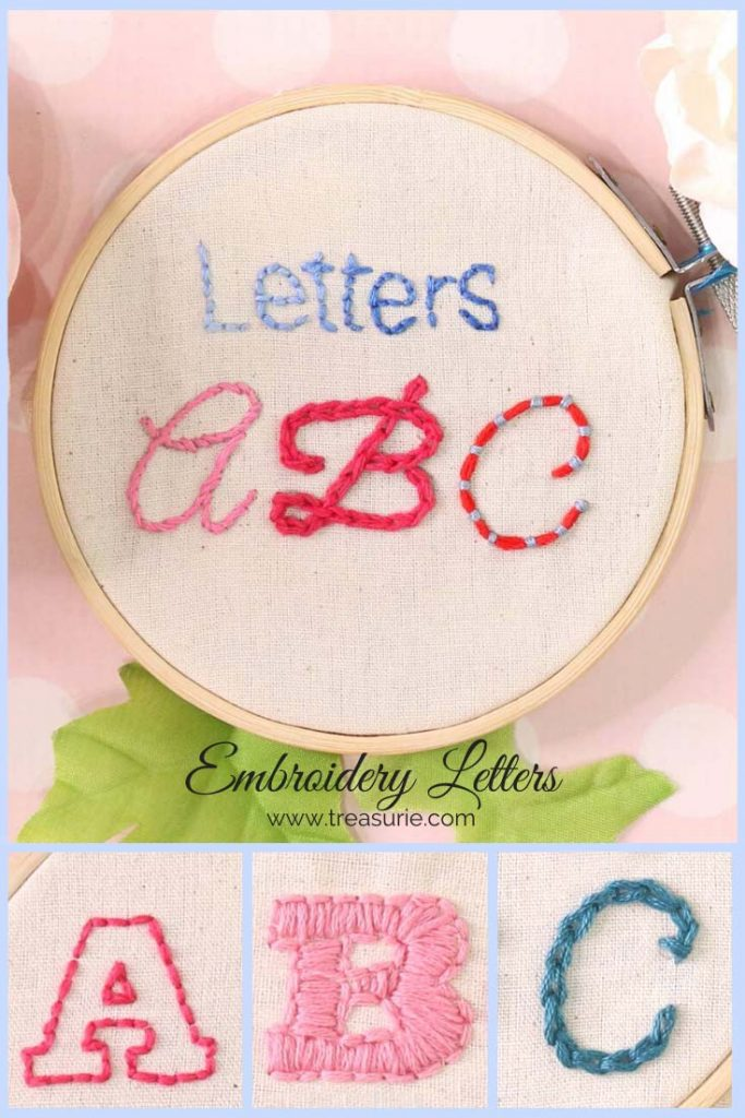 Best Embroidery Stitch For Letters : embroidery, stitch, letters, Embroidery, Letters, Easiest, Stitches, TREASURIE