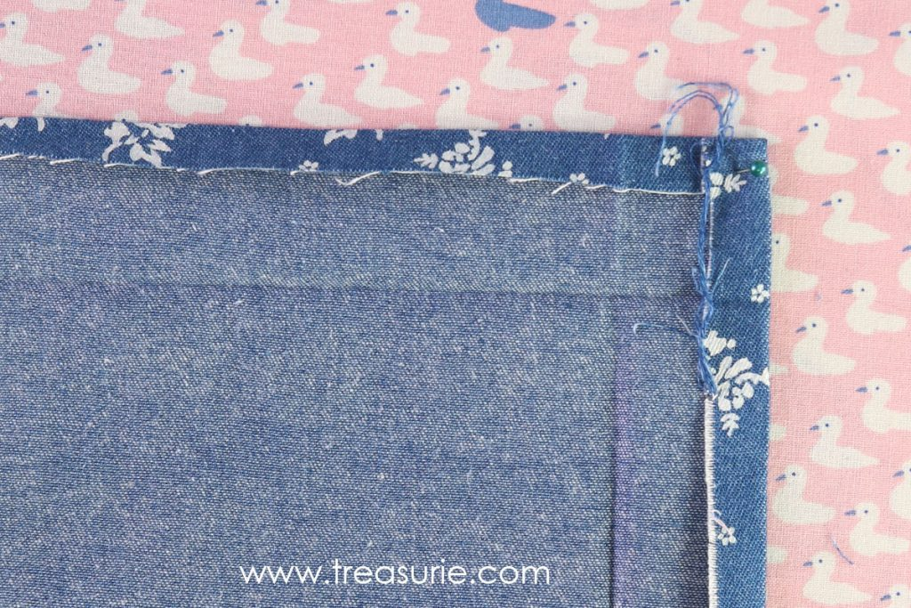 How to Sew Mitered Corners - Open