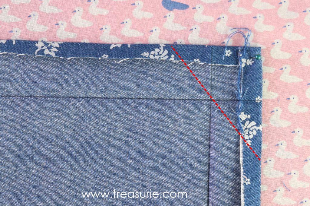 How to Sew Mitered Corners - Mark