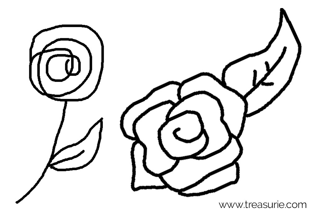 Embroidery Rose Drawings