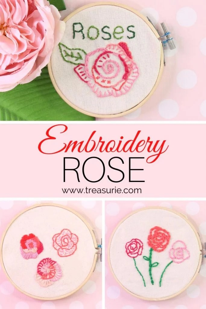 embroidery rose
