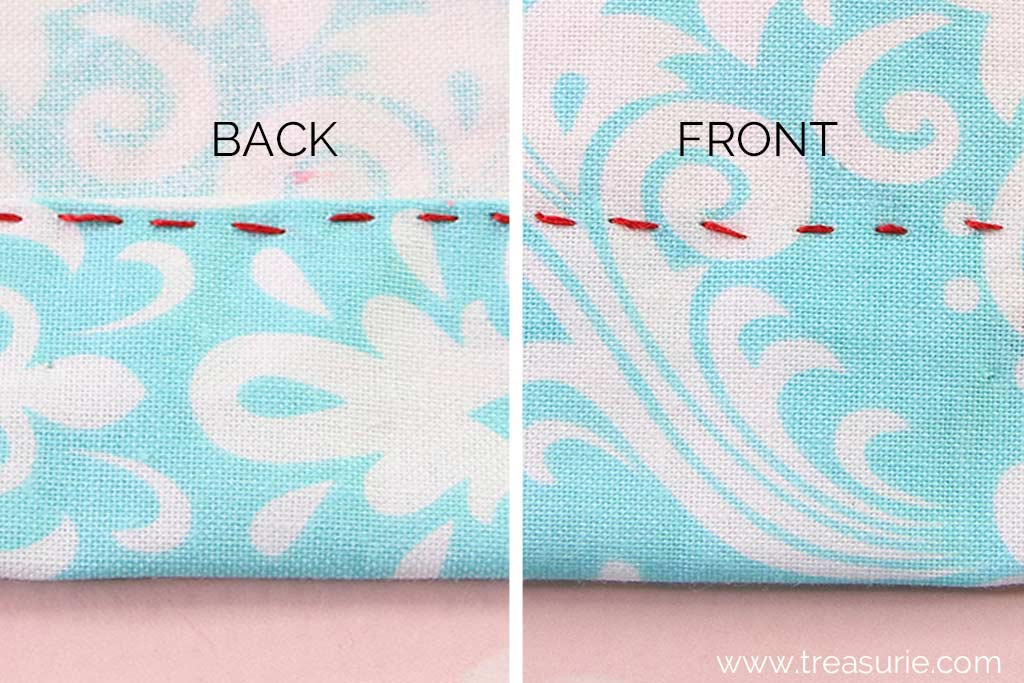 Alternatives to Catch Stitch - Running Stitch