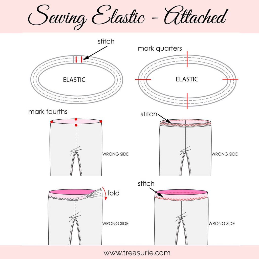 How to Sew a Waistband with a Zig-zag or Serger