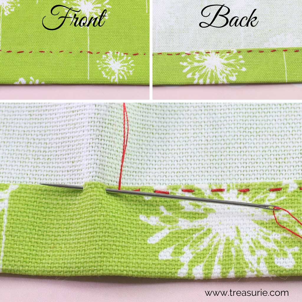 Hemming Stitch - Running Stitch
