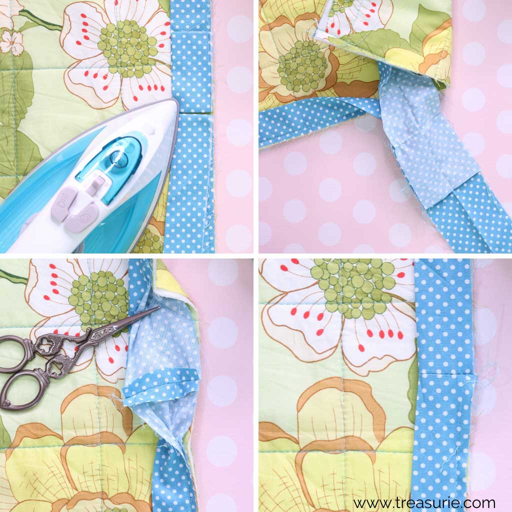 How to Bind a Quilt End