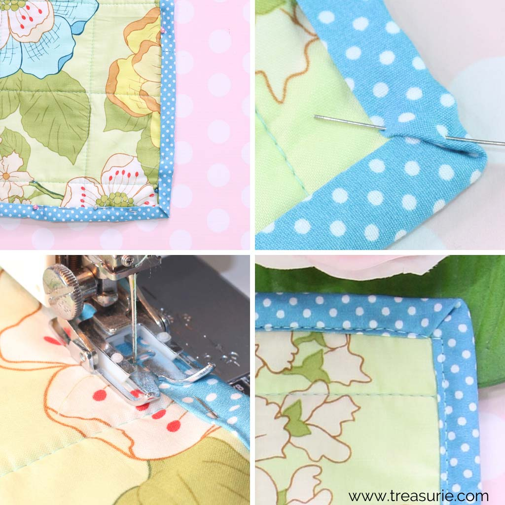 How to Bind a Quilt Corner