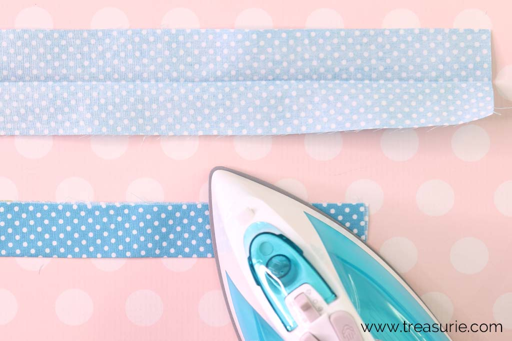 How to Bind a Quilt - Press in Half