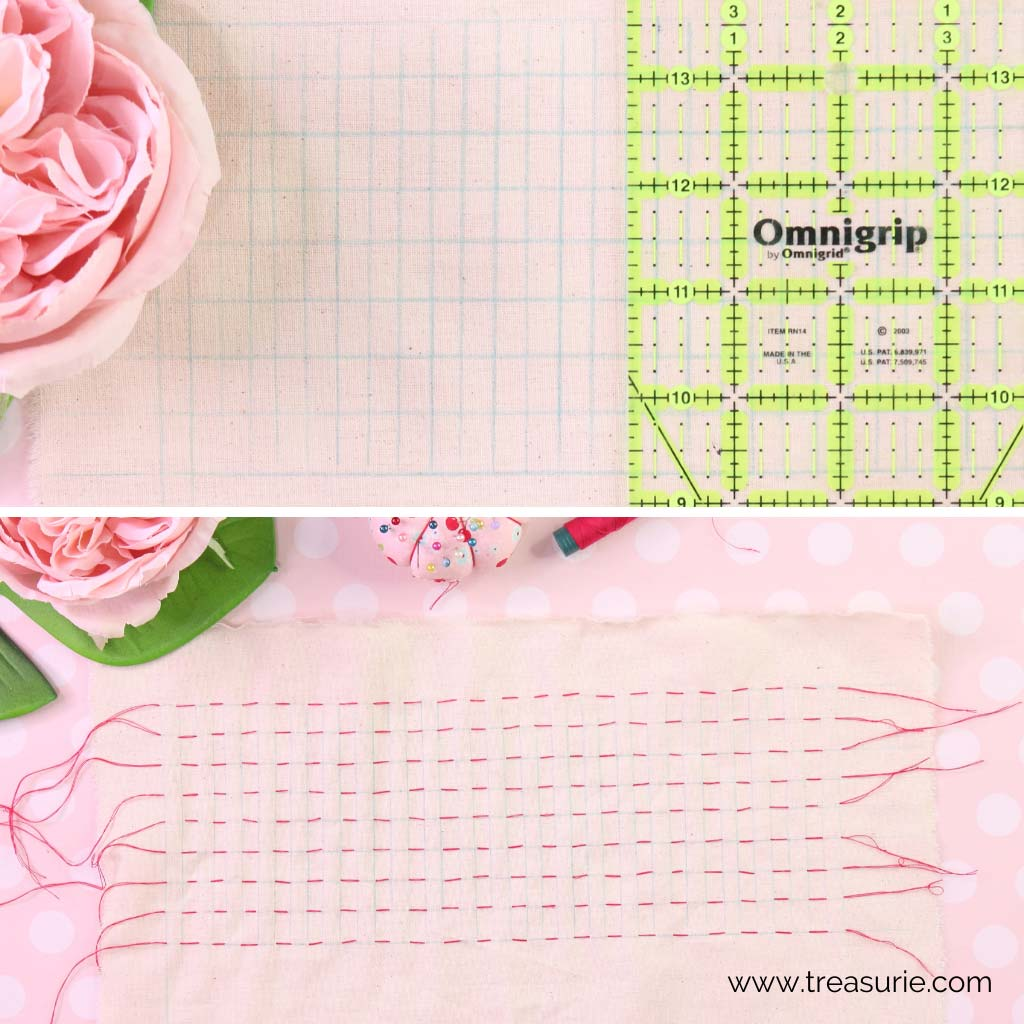 Smocking Pleats with a Grid