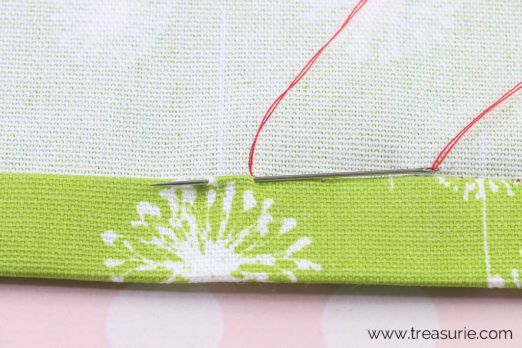 Slip Stitch - Stitch through Hem