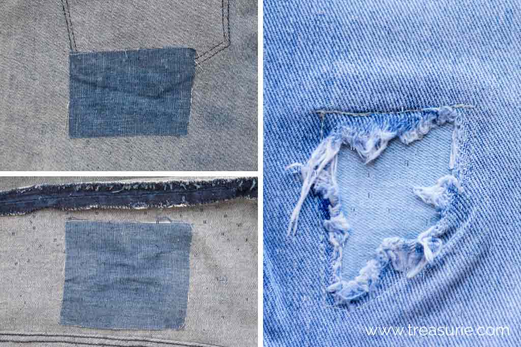 How to Sew a Rip with a Patch