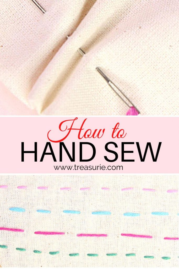 how to hand sew