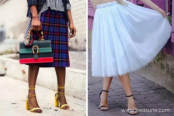 Below Knee and Midi Skirt Lengths