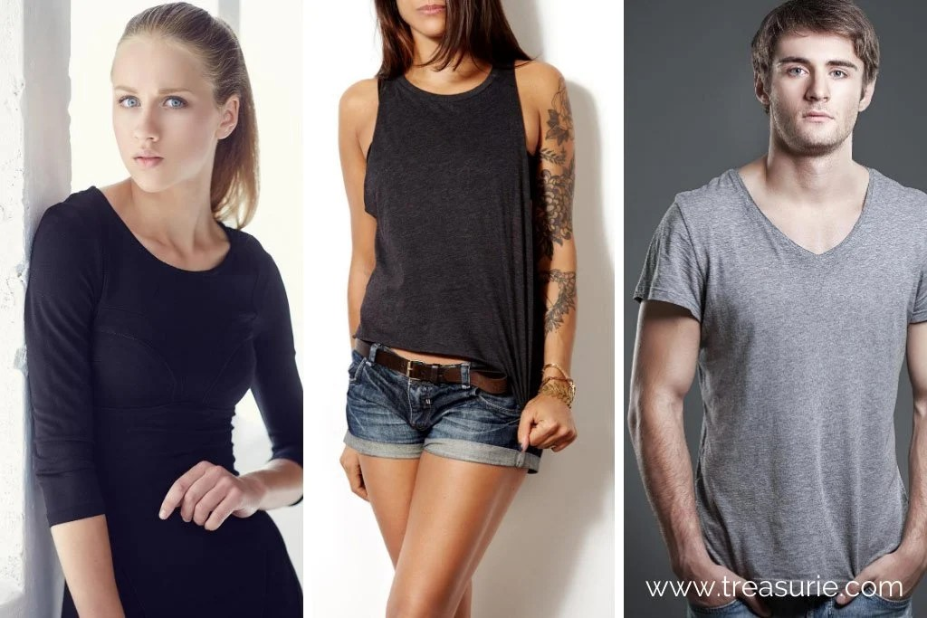 Types of T-shirts Sleeves - 3/4, Sleeveless and Short