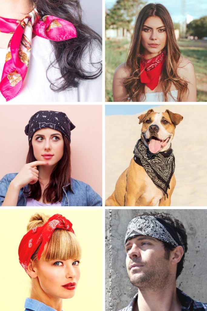 How to make a bandana and wear it