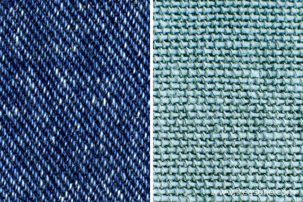 twill vs plain fabric