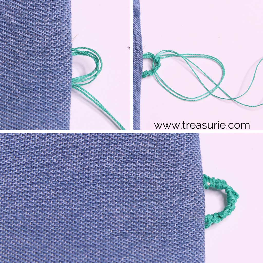 Hand Stitched Button Loops