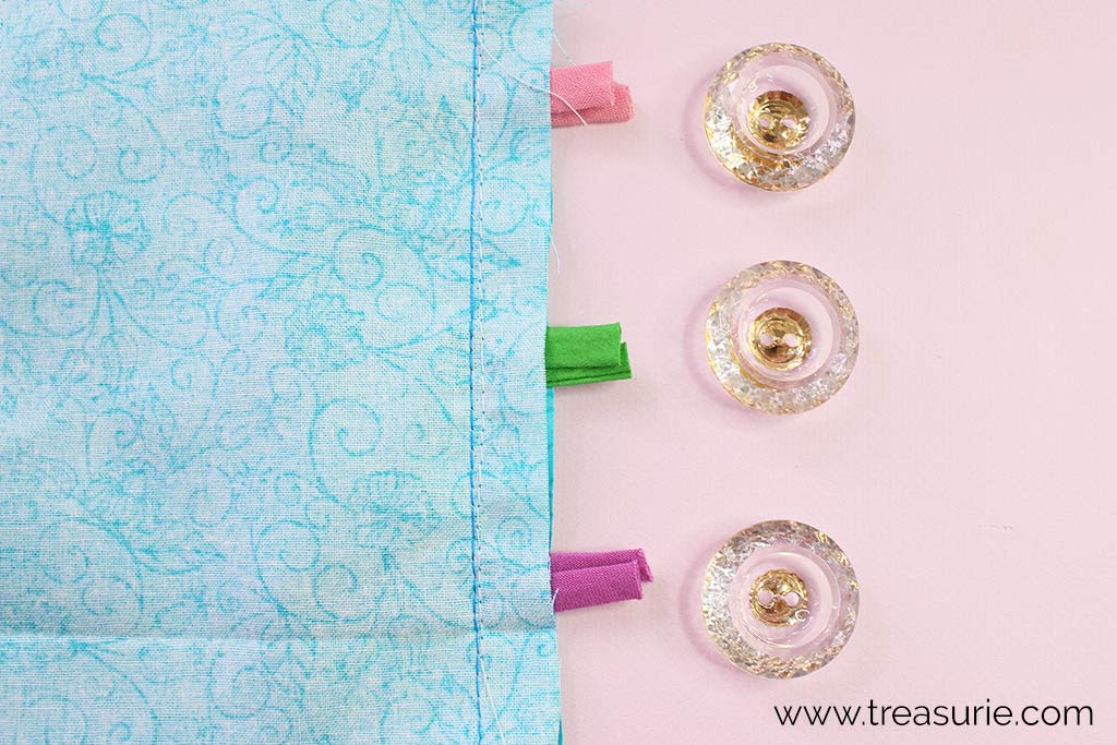 Sewing Seam on Button Loops