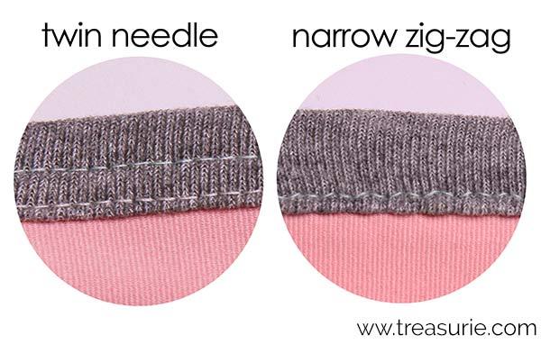 Twin Needle vs Zig-Zag