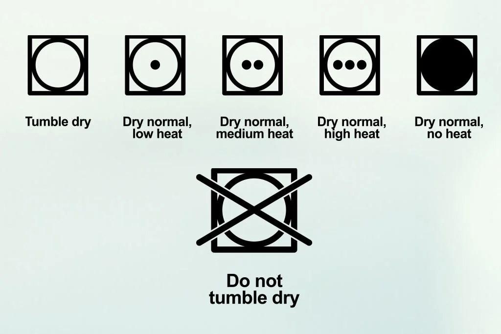 Tumble Dry Symbols