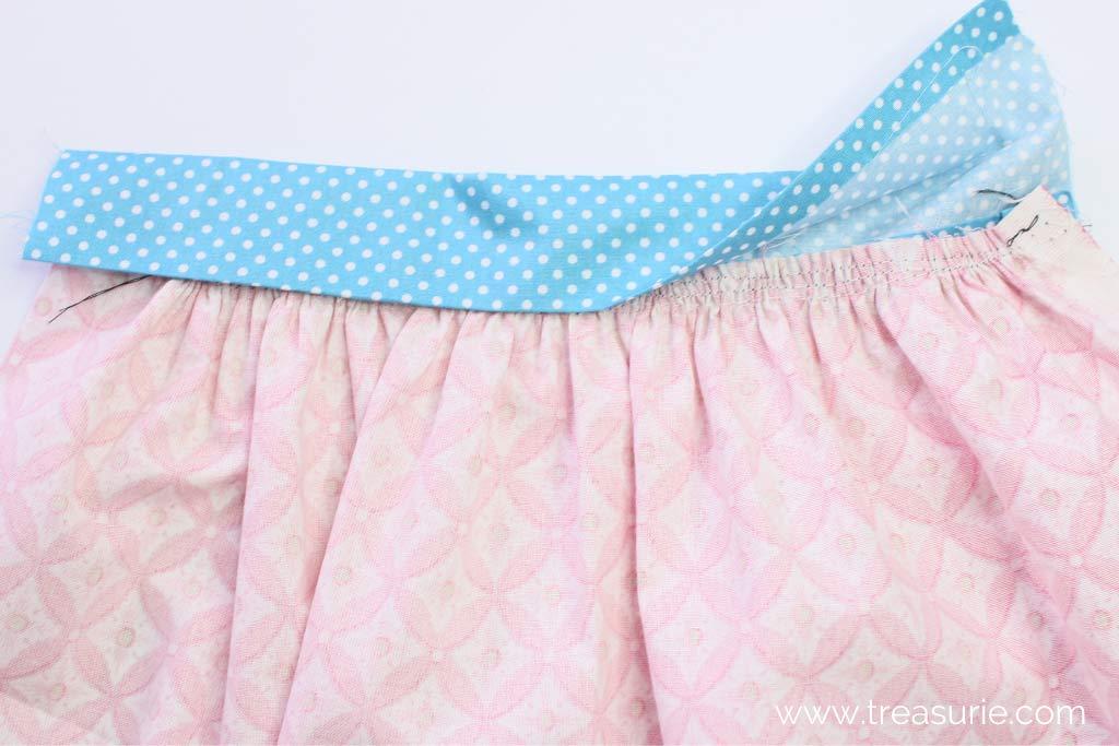 Gathered Skirt Pattern - Fold Waistband to Back