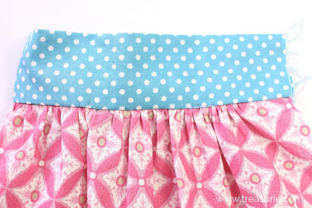Gathered Skirt Pattern - Finished Waistband