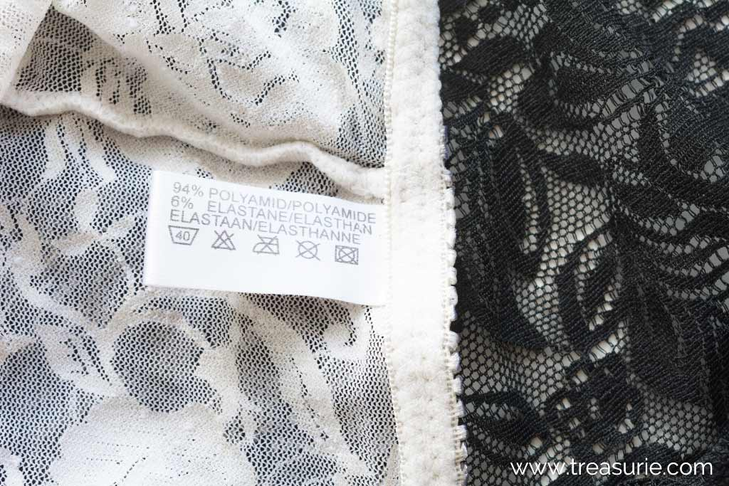 How to Wash Lace - Check the Label