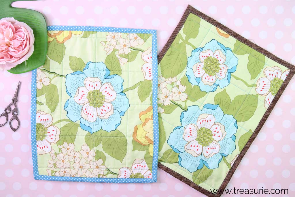 Bias Tape Placemat and Self Binding Placemat