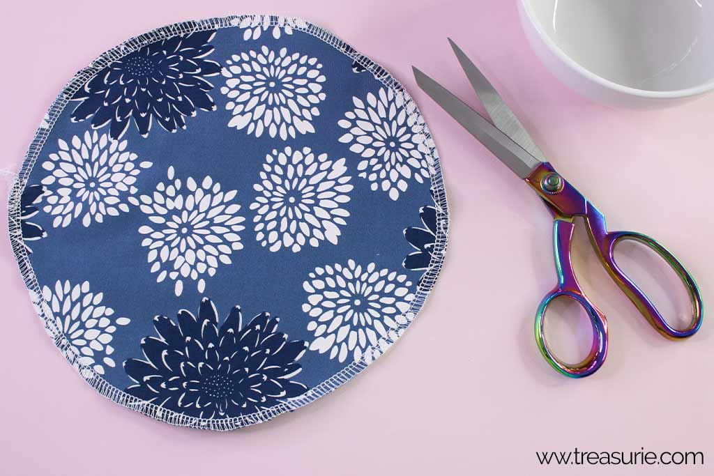 Fabric Bowl Cover Pattern - Finishing