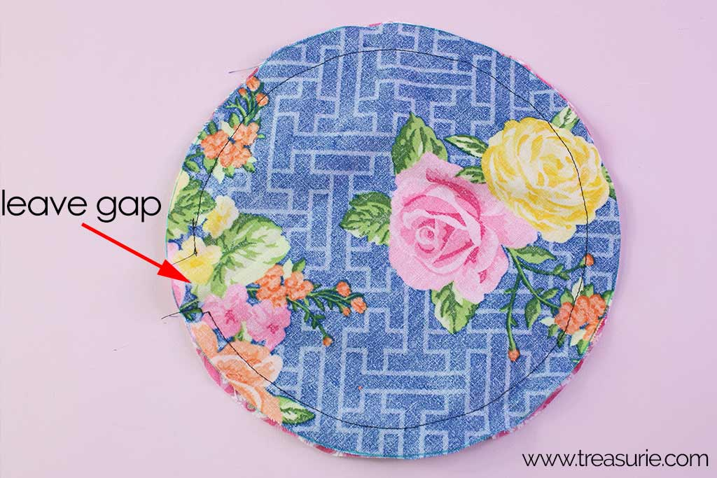 Fabric Bowl Cover Pattern - Seam