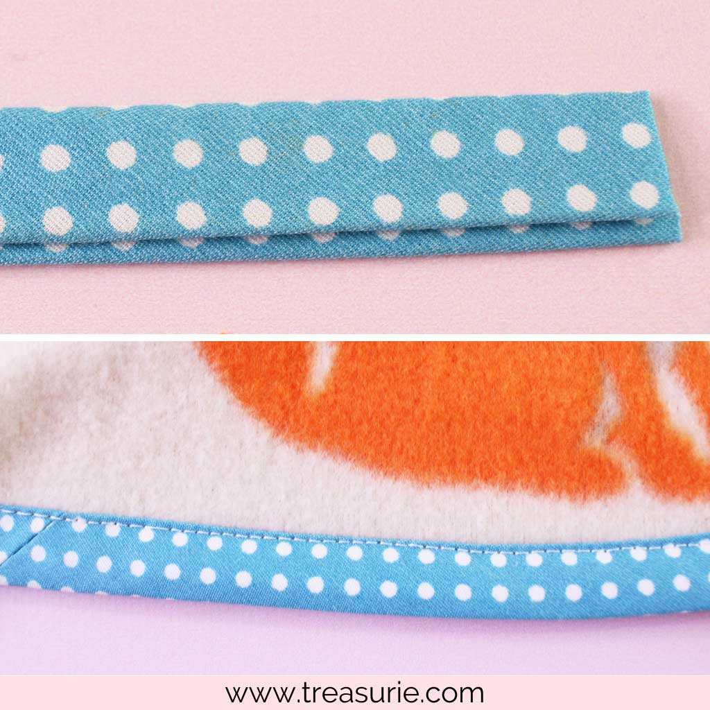 How to Make a Fleece Blanket with Bias Tape