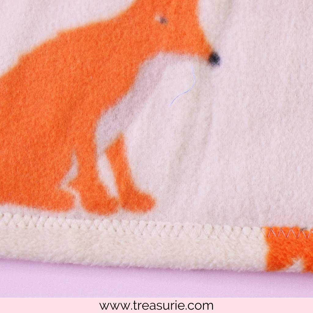 How to Make a Fleece Blanket with Folded Hem