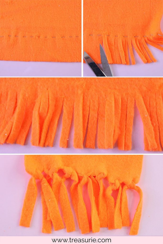 How to Make a Fleece Scarf with Fringing