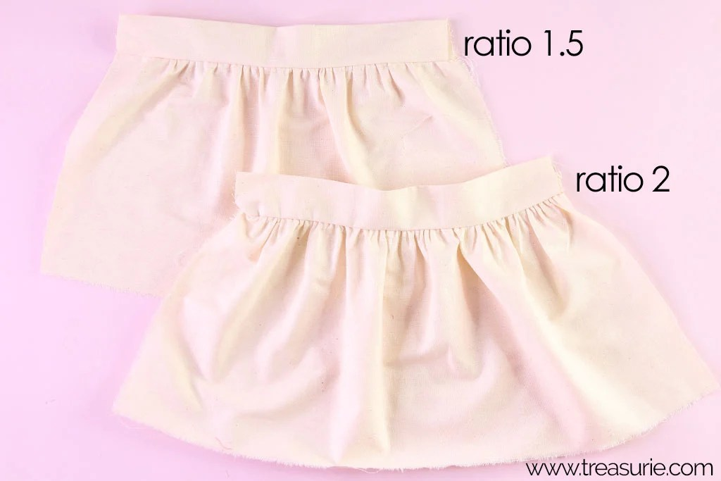 Gathered Skirt Pattern Ratios